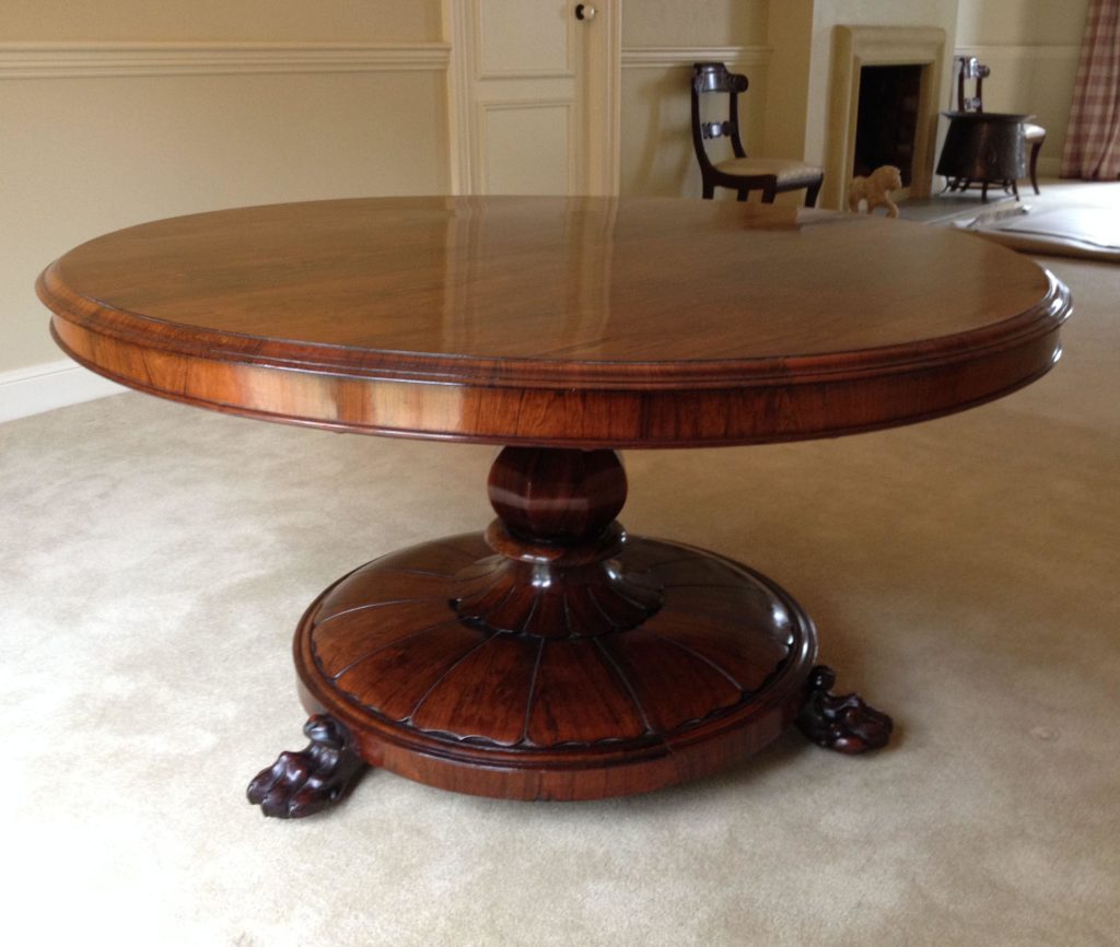 Restoration and French polishing mid-Victorian Rosewood table. Click here to see more...