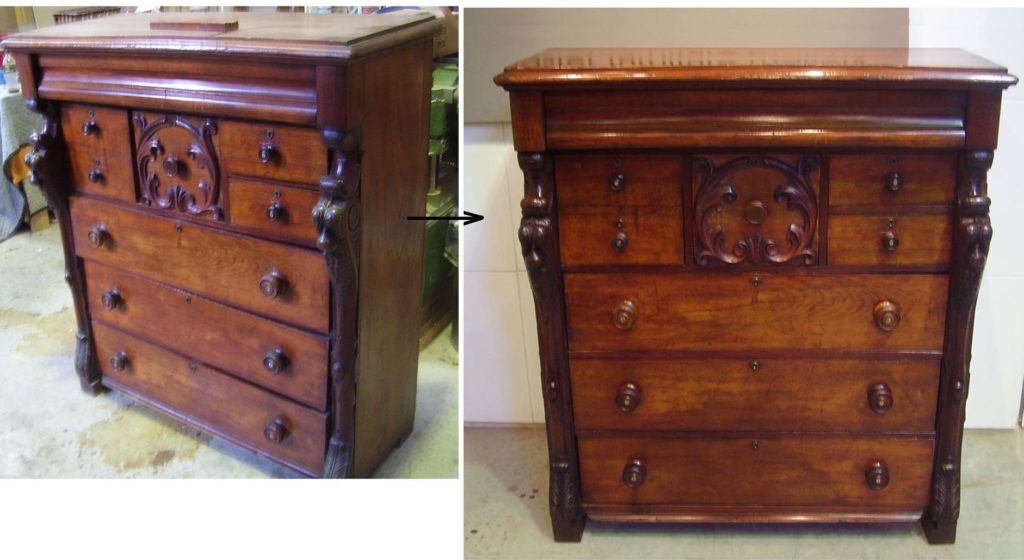 Recent Conservation & Repair to Australian Cedar Chest of Drawers circa 1870. Click here to see more...