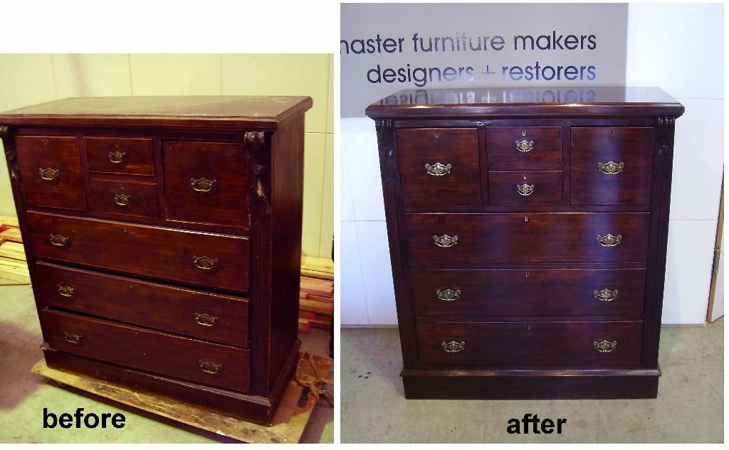 Restoration Australian Edwardian chest of drawers circa 1905. Click here to see more...