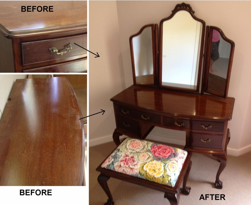 Queen Anne vintage 1930s dressing table. Click here to see more...