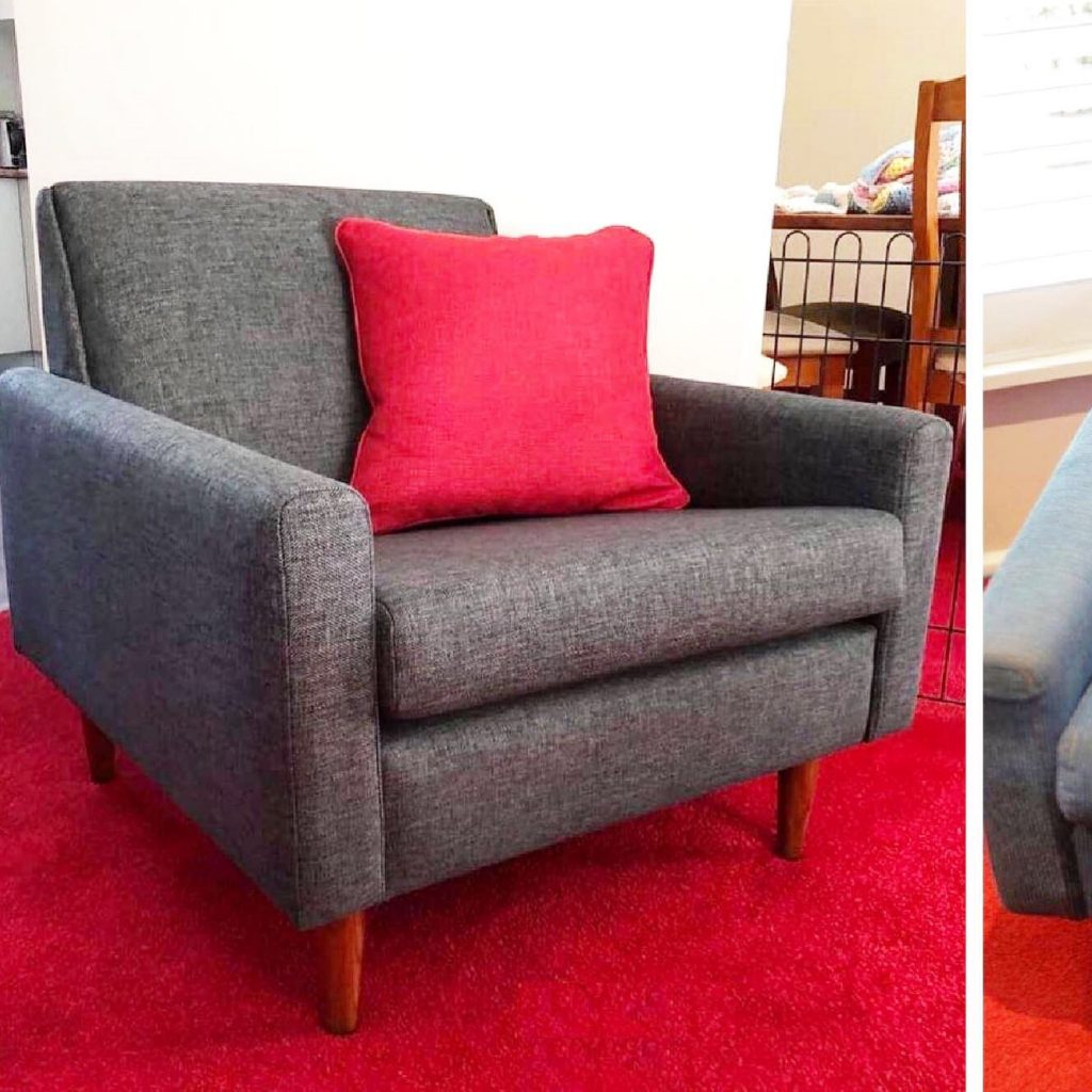 Restoration and reupholstery mid-century Parker lounge suite... see more
