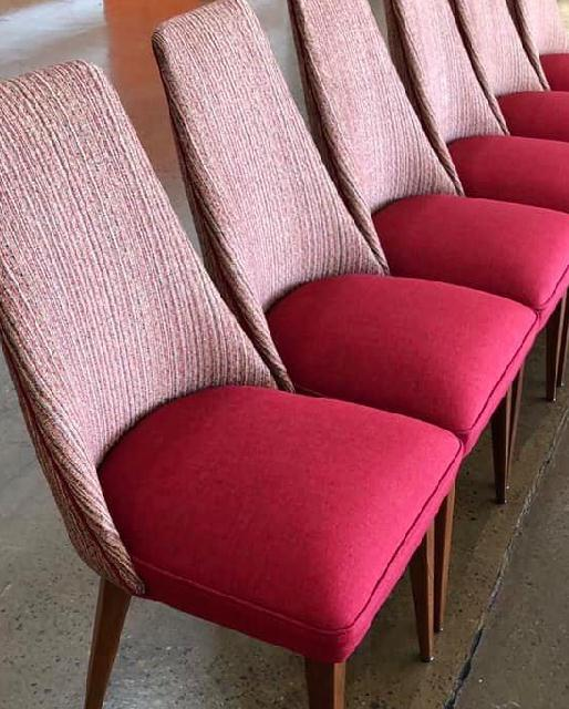 Reupholster and restore 6 x mid-century Paul Kafka chairs. See more
