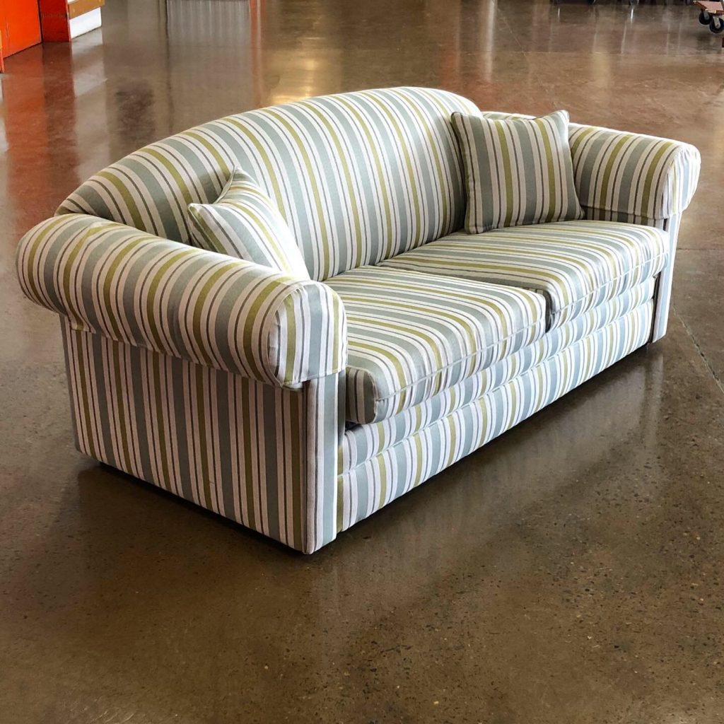 Recover vintage sofa. Click here to see more...