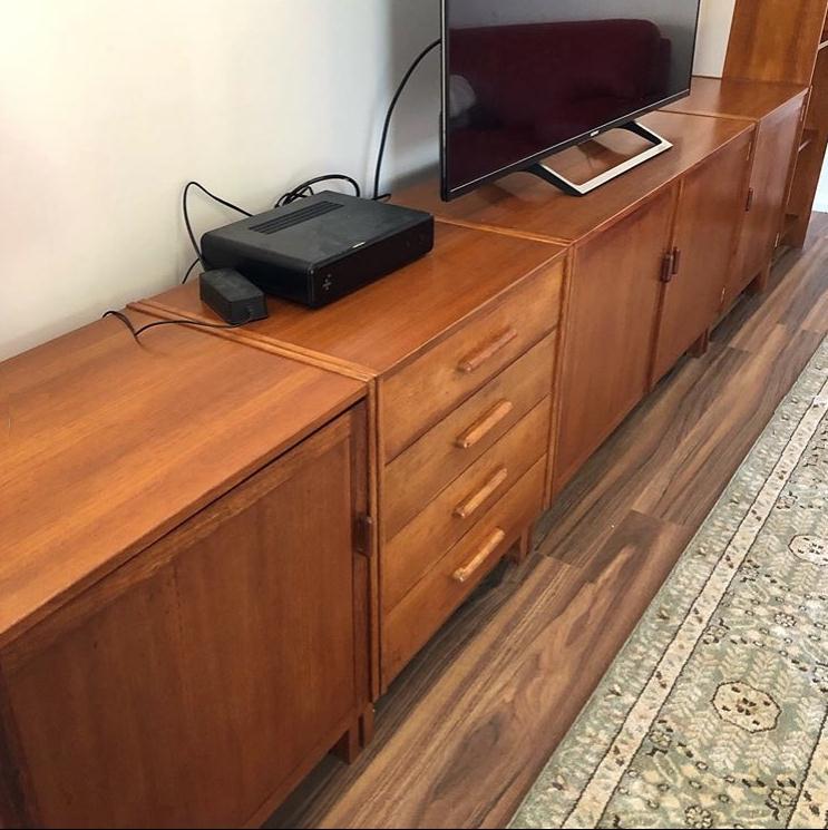 Restoration original Vintage Parker Furniture sideboard and cabinets... see more