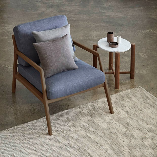 AXIOM RANGE by Warwick. Mid-century inspired textured fabric. Natural blended fabric 48% cotton.