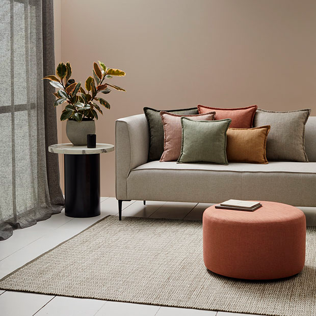 HUSK RANGE by Warwick . Popular cotton-linen blended fabric in a fantastic range of colours. View Fabrics...