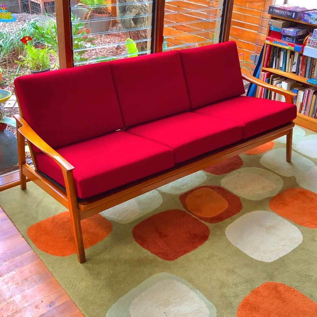 Restoration and reupholstery Vuer mid-century lounge suite... see more