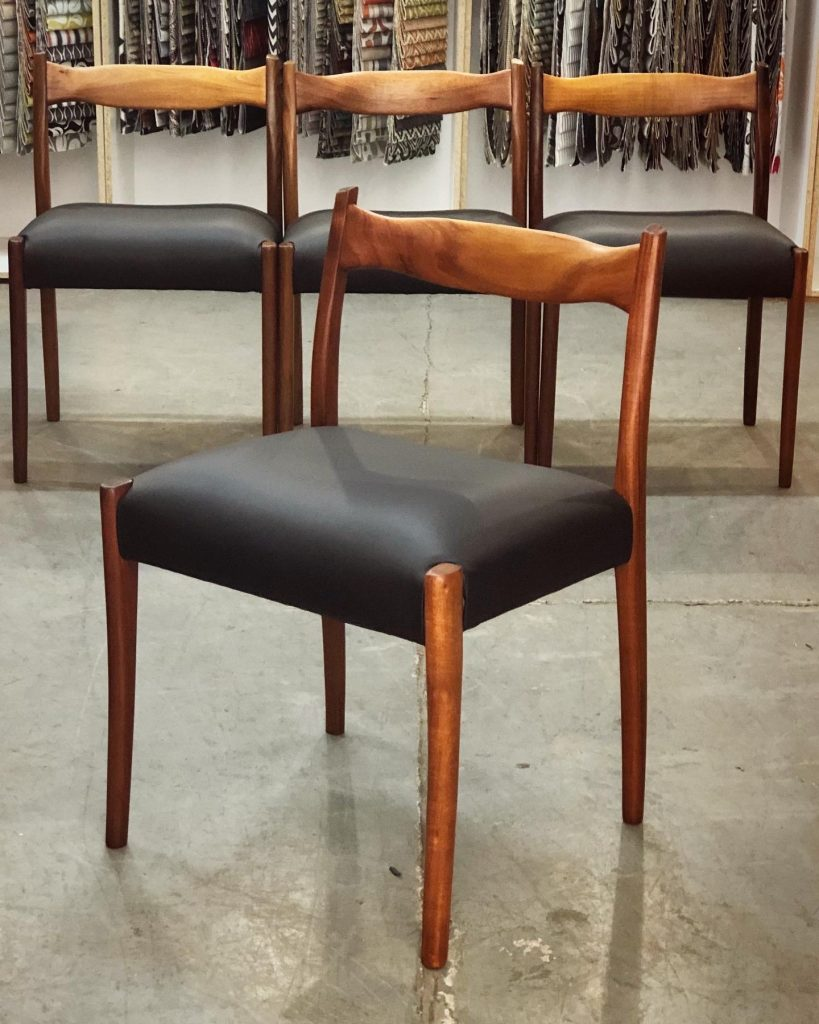 Restore , repair and recover 6 x Fler mid-century chairs