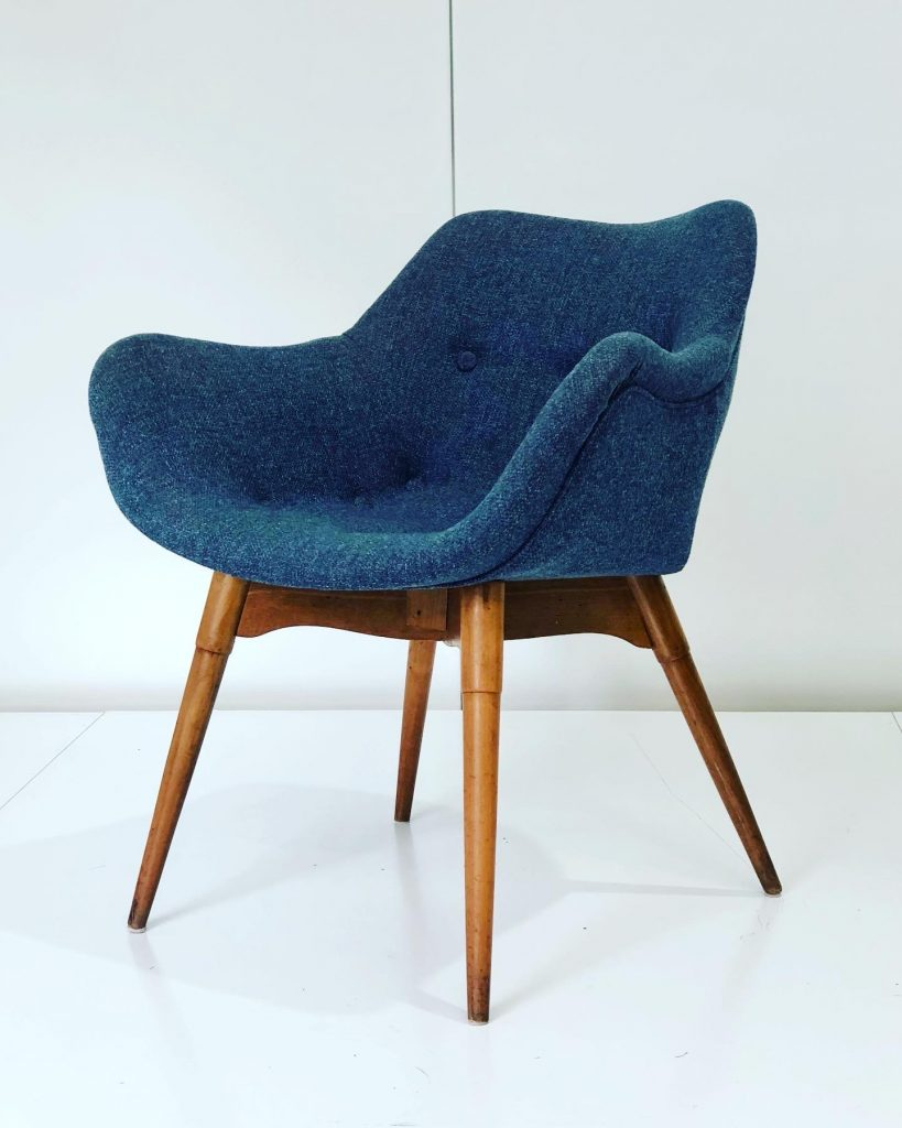 Restoration and repair work of original Grant Featherston A310 chair