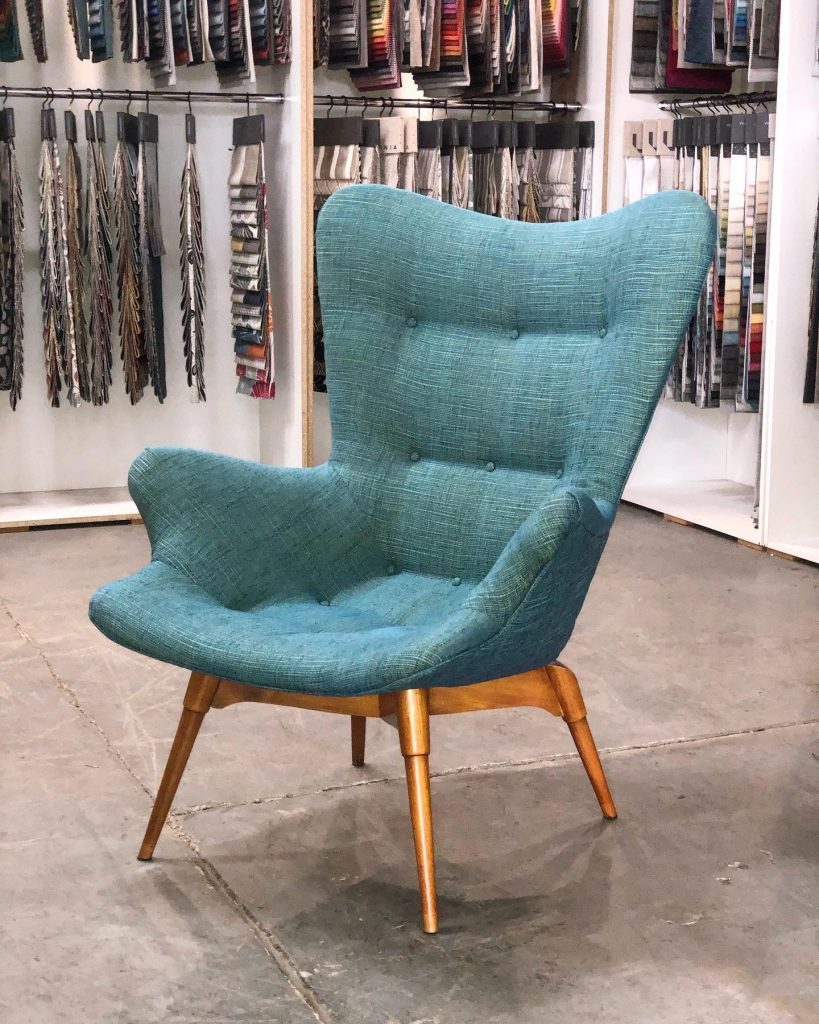 Full restoration and reupholster Featherston chair... see more