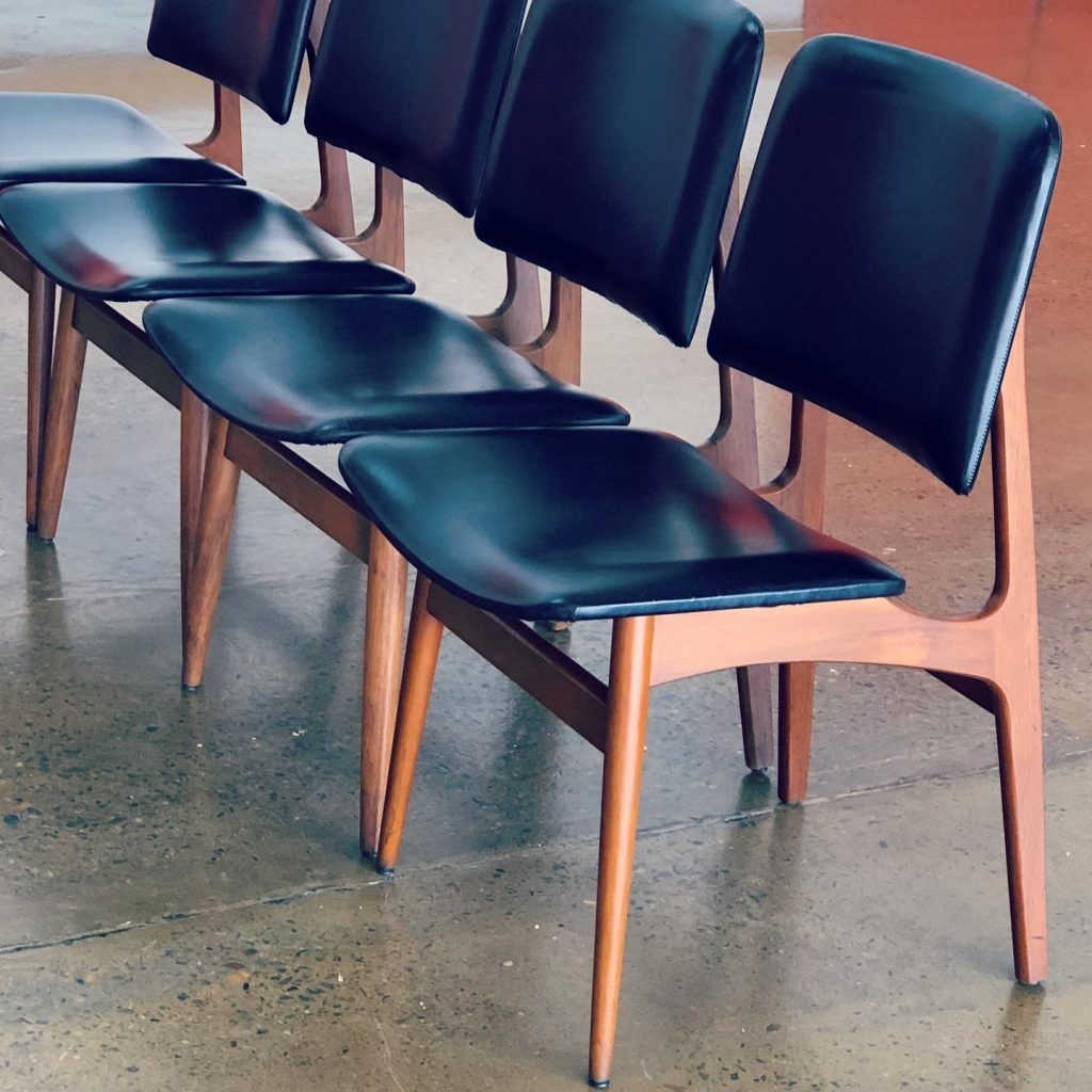 Repair and restoration of 4 mid-century Danish dining chairs... see more