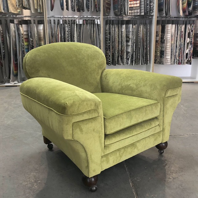 Art Deco Vintage Club Armchair c1940s. Restoration, repair and fully reupholstered... see more