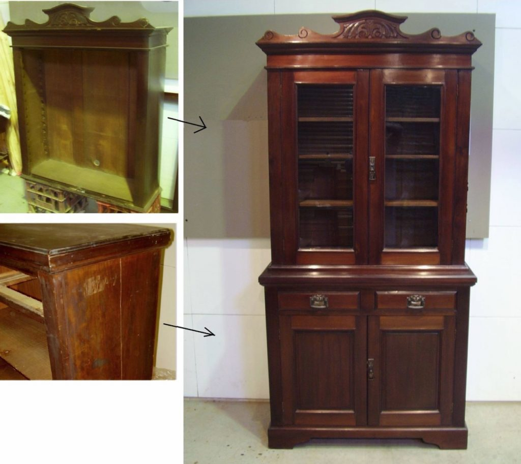 Australian Edwardian bookcase c1900s restoration. Click here to see more...