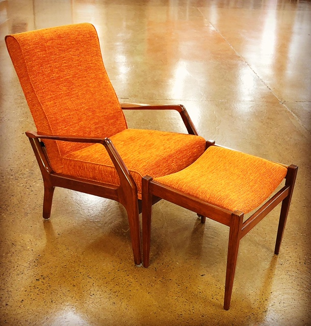 Restore and reupholster Van Treight 1960s recliner TV chair... see more