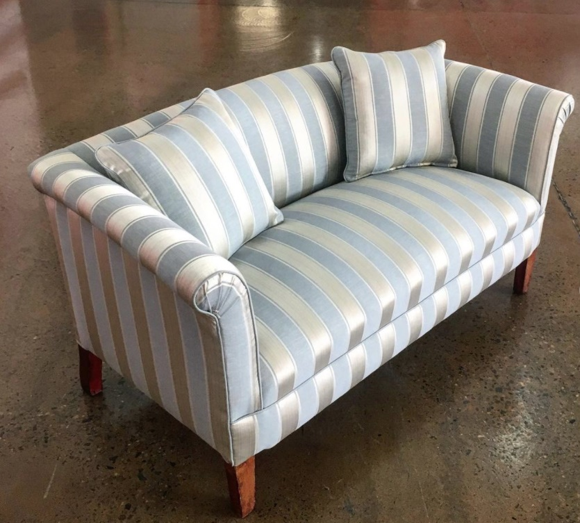 Vintage sofa repair and recover. Click here to see more...