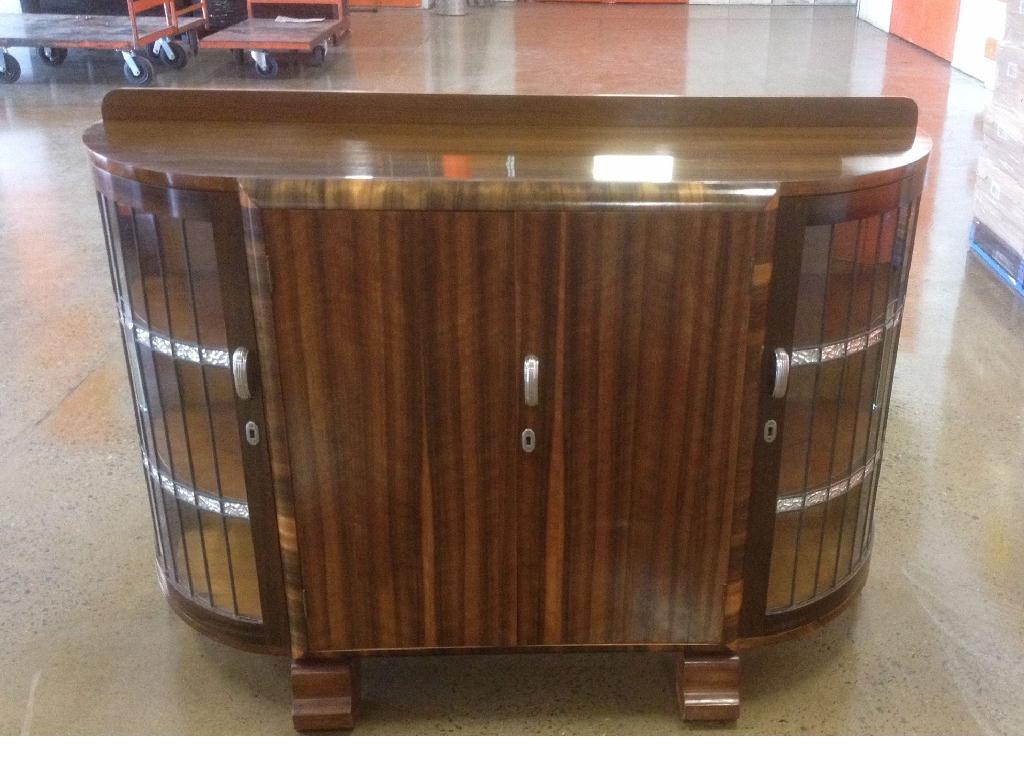 Art Deco display cabinet sideboard. Click here to see more...