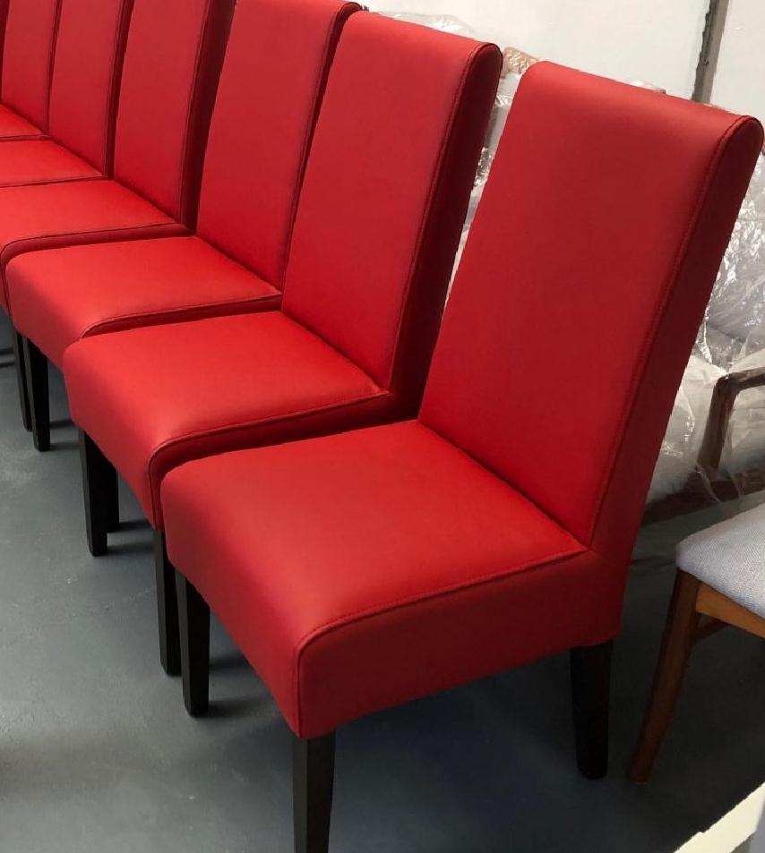 Reupholster 8 x high back dining chairs. See more...